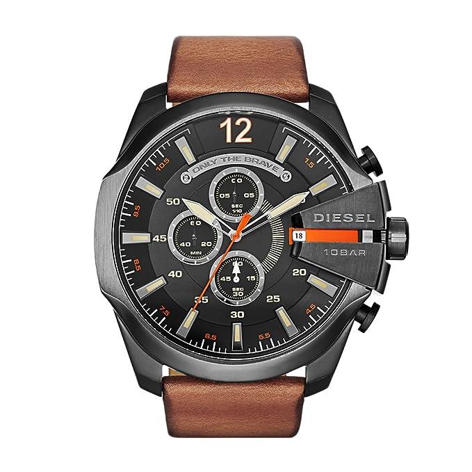 dcb3733e670f Diesel Reloj Hombre de Analogico con Correa en Cuero DZ4343  Amazon.es   Relojes
