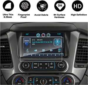 R RUIYA HD Clear Tempered Glass for 2015-2018 Chevrolet Colorado Suburban Tahoe MyLink 8-Inch Display Navigation Touch Screen Protector Car in-Dash Protective Film