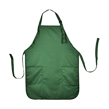 apron commercial restaurant home bib spun poly cotton kitchen aprons 2 pockets in dark. Interior Design Ideas. Home Design Ideas