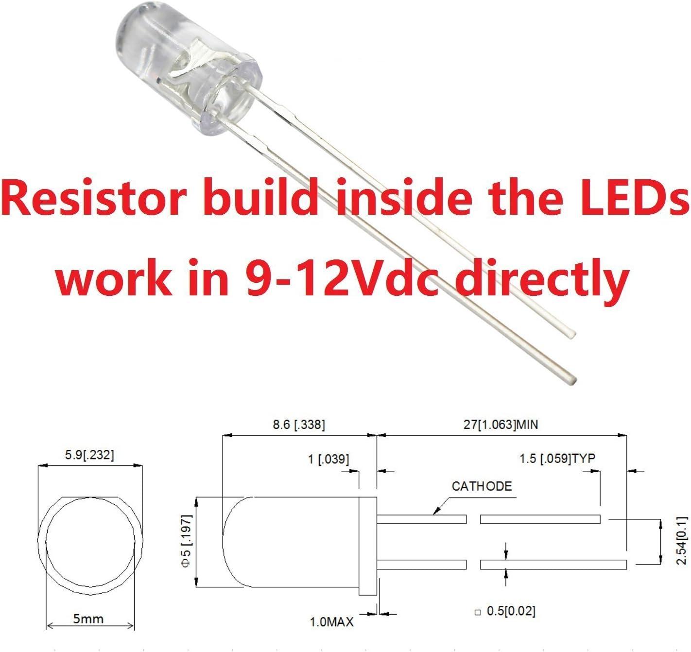 5mm Blue LED with built-in resistor for 5V OSB5SA5B64A-5V