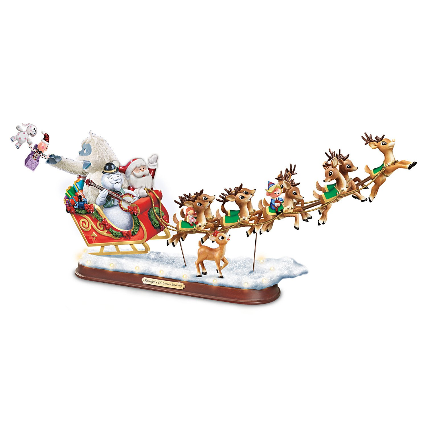 Rudolph the Red-Nosed Reindeer Sculpture: Lighted Musical Holiday Decoration by The Bradford Exchange