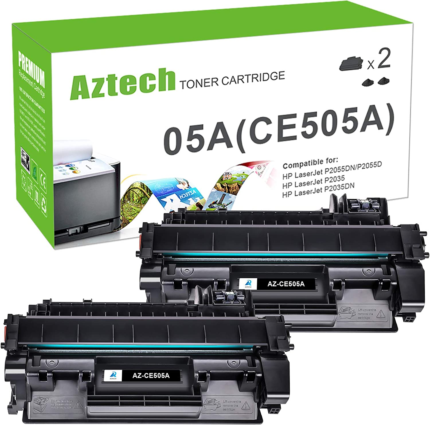 CE505A Laser Printer Cartridge use for HP Laserjet P2035N P2050 Printer 3-Pack Black 2,300 Pages Compatible High Yield 05A