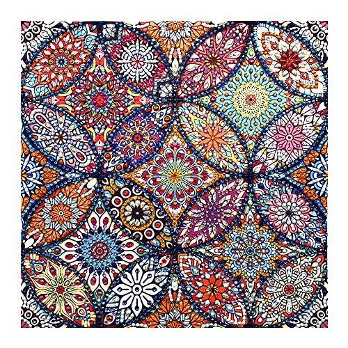 5D DIY Special Shape Diamond Painting Set Decorative Counter Sticker Crystal Diamond Embroidery Painting Picture, Mandala Flower Painting