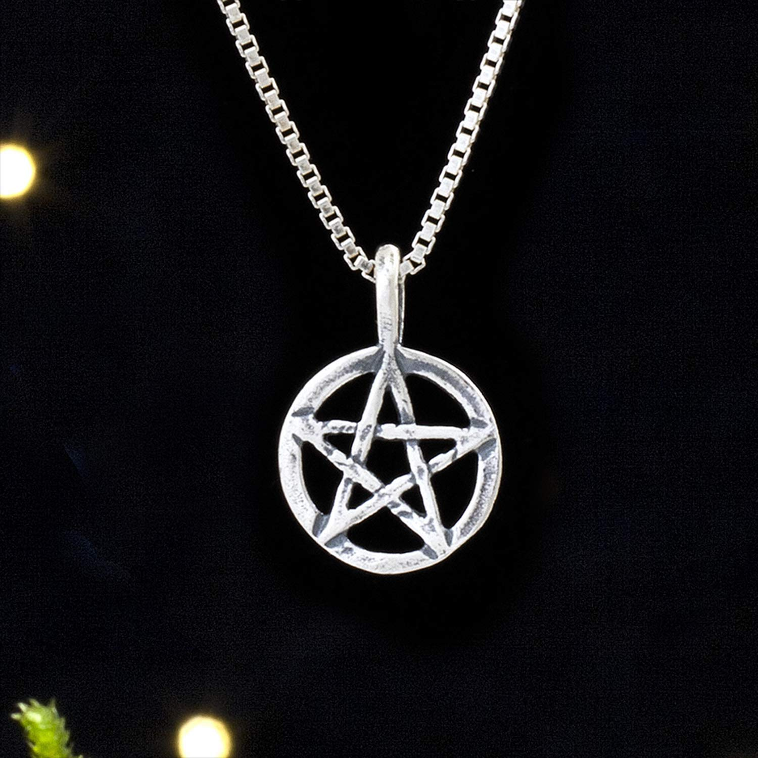 Sterling Silver Little Pentagram Pendant Only or Necklace Pentacle Small Lightweight -