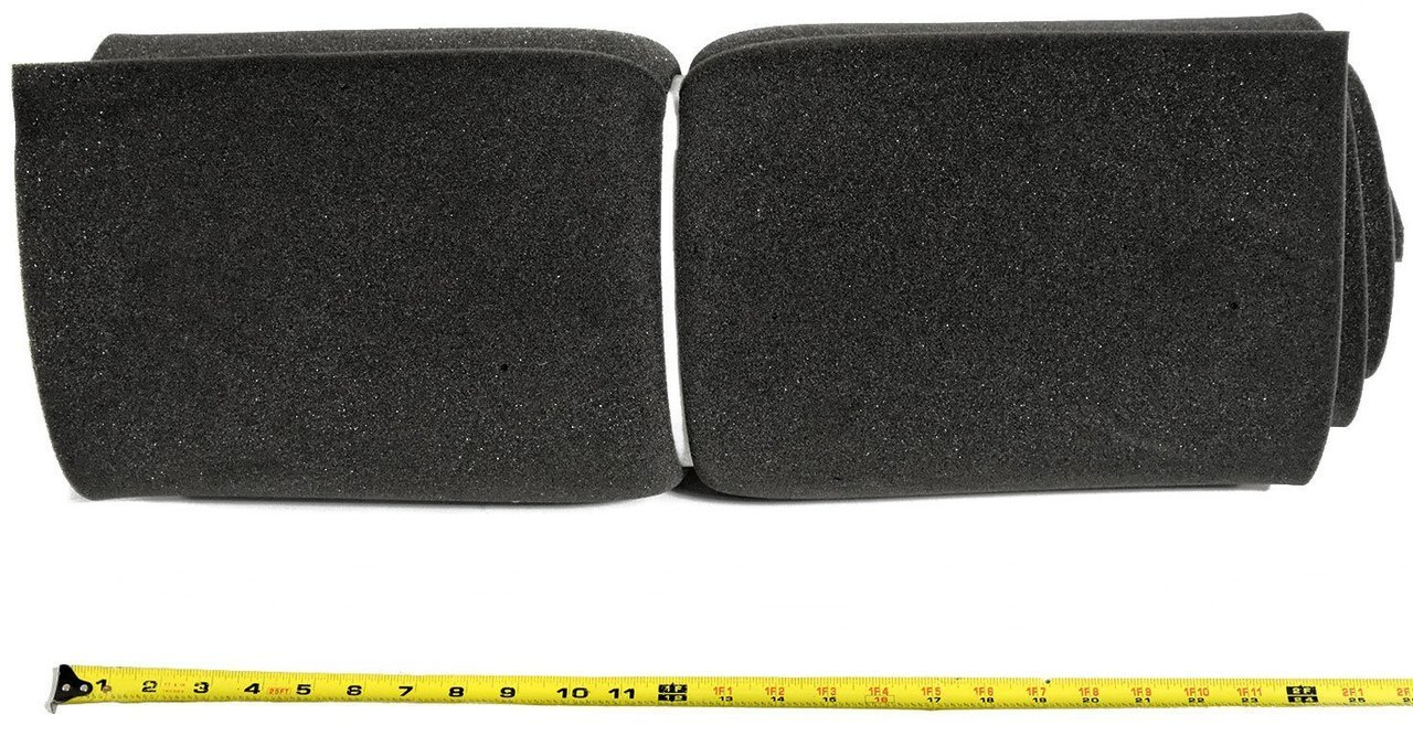 2 x 24 x 72 Polyurethane Charcoal Foam Padding Packing Foam (Pack of 3) by Online Fabric Store