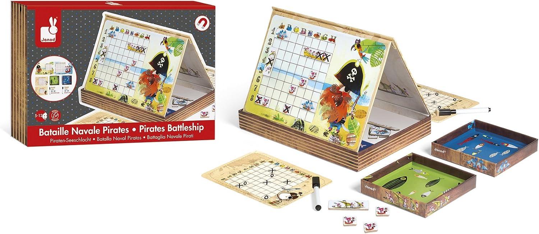 Janod Batalla Naval Piratas (J02835), Multicolor (1): Amazon.es: Juguetes y juegos
