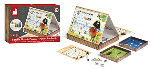 Amazon.Com: Janod Priate Battleship Magnetibook: Toys & Games