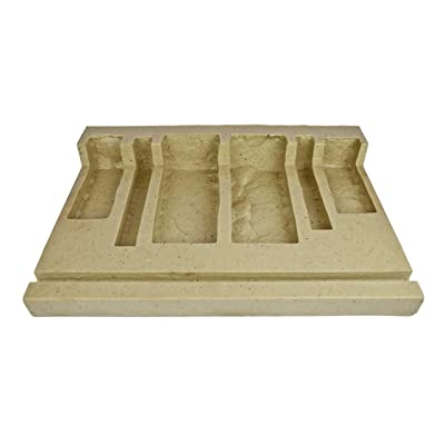 Veneer Stone Rubber Mold for Concrete or Plaster, EZ Stack Corners, 23x16, Version 3, Recycled Material : Garden & Outdoor