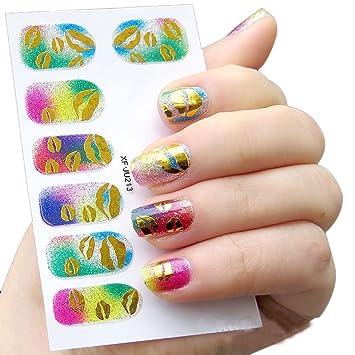 Amazon Ddlbiz Diy Nail Sticker Water Transfer Stickers Finger