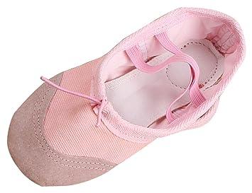 NAYIYA Chaussures de Danse Ballet Ballerines en Toile Doux Chaussures Plates  pour Danse Classique Yoga Gym 927c5565765