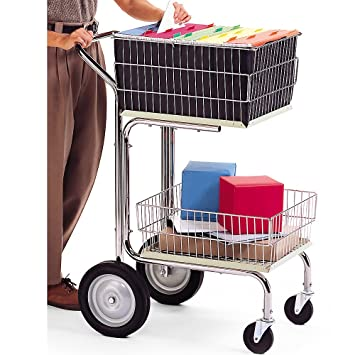 Carro de correo compacto para cesta de alambre Charnstrom (M214): Amazon.es: Oficina y papelería