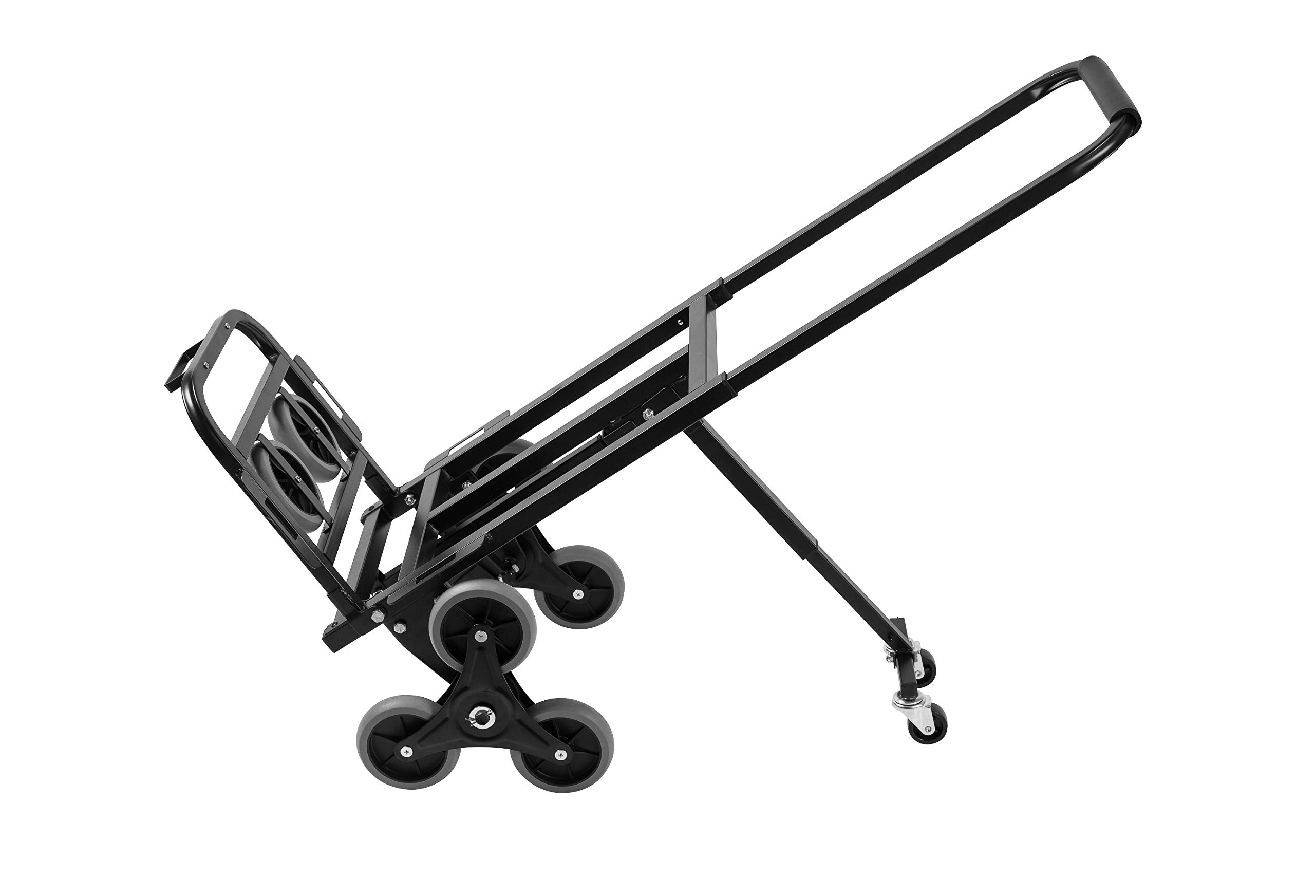 SHZOND Stair Climber Cart 330 LBS Weight Capacity Foldable Stair Climbing Hand Truck with 2 Swivel Wheels and 2 Spare Wheels (Stair Climber cart)