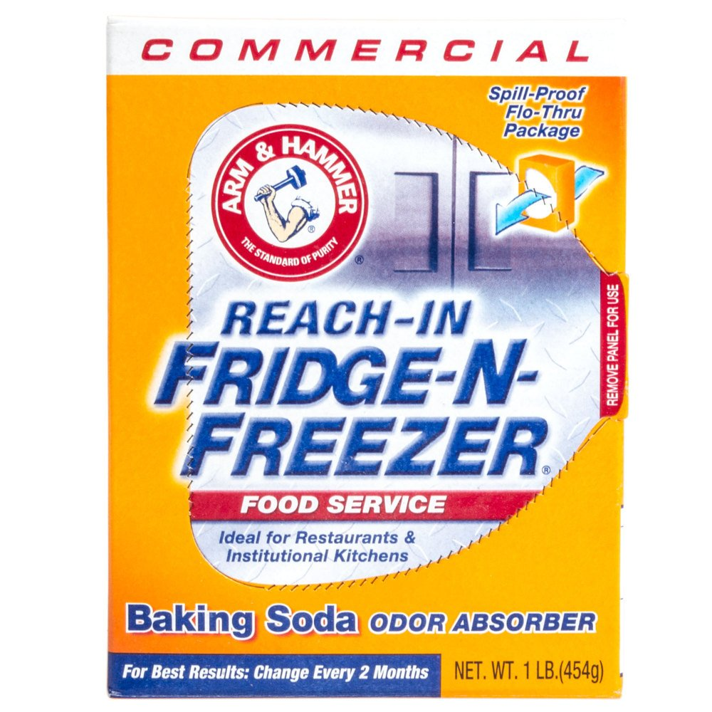 Arm & Hammer Fridge-N-Freezer Pack Baking Soda, Unscented, Powder, 16 oz - Includes 12 per case.