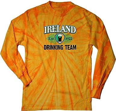 64a4547d6 Amazon.com: Buy Cool Shirts Ireland Drinking Team Est. 1922 Long Sleeve Tie  Dye Shirt: Clothing