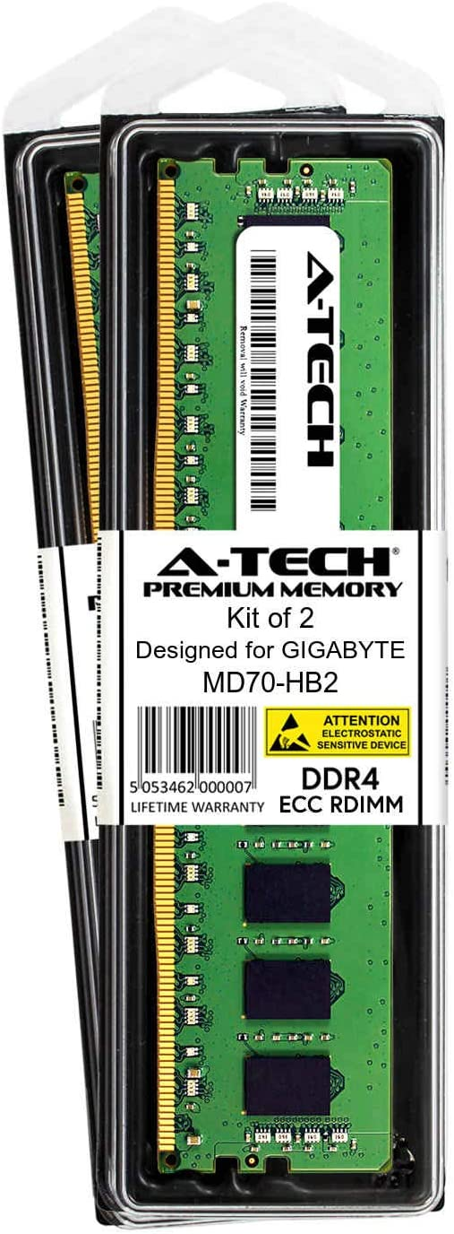 A-Tech 8GB Module for GIGABYTE MD70-HB2 Server Memory Ram DDR4 PC4-21300 2666Mhz ECC Registered RDIMM 2rx8 AT385248SRV-X1R14