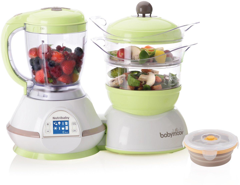 Babymoov A108435 Nutribaby Zen Küchenmaschine (inkl. einem Silikonbehälter, 240 ml) grün 240 ml) grün