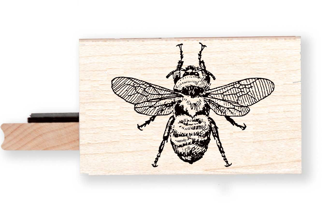 BR104K Honey Bee Rubber Stamp