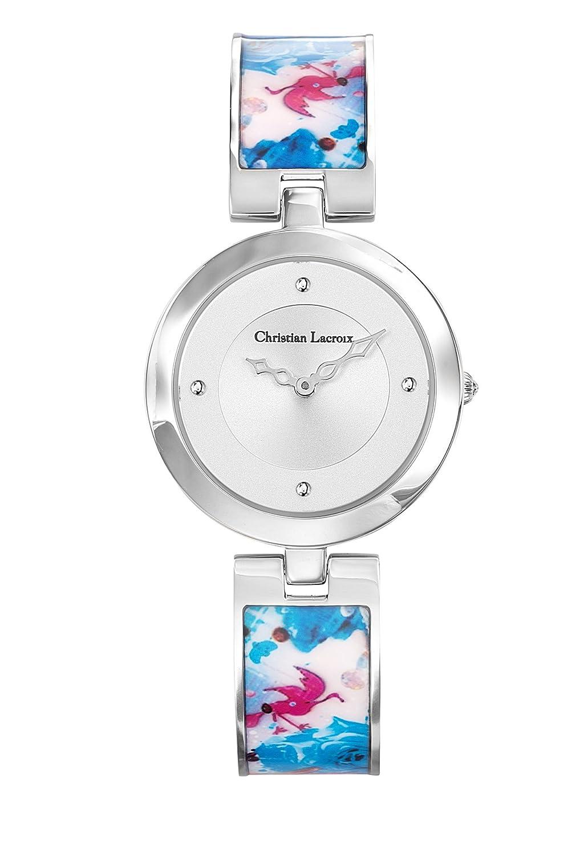 Zeigt Damen – Christian Lacroix – Flower Zone – Armband Stahl lackiert bedruckt – 8010107