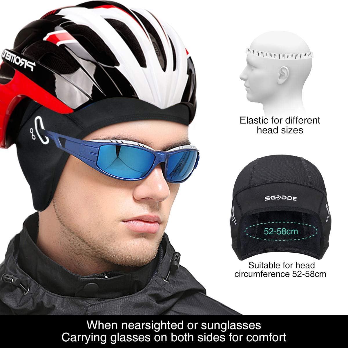 au Ski CXG Bonnet V/élo Bonnet sous Casque Calotte de Cyclisme Bonnet Running dhiver Durable, pour Homme//Femme au Moto Adapt/é /à la Course Coupe Respirant au V/élo