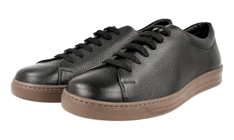 Amazon.com | Prada Men's 4E2996 Black Leather Sneaker EU 9 (43) / US 10 |  Fashion Sneakers