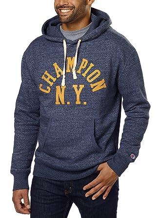 ac73b422070a Men s Champion NY Men s Vintage Pullover Drawstring Hoodie(Grey Heather
