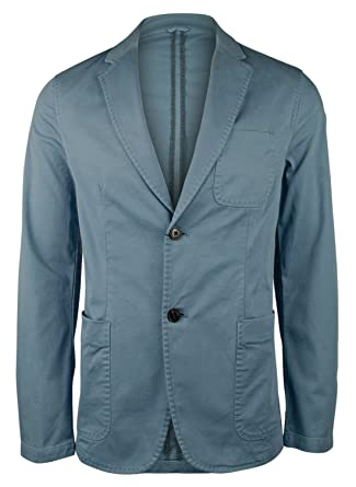 0faa3cc0b2c3 Michael Kors Men s Garment-Dyed Slim Fit Blazer Jacket- BG-38R Blue-