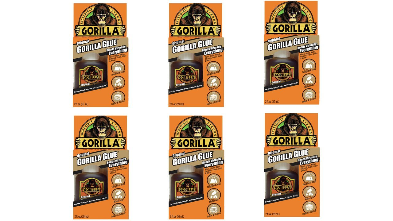 Gorilla 50002-6 Original Glue (6 Pack), 2 oz, Brown