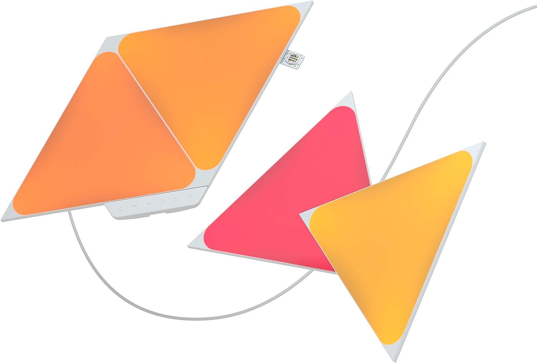 Nanoleaf Shapes Triangles Kit de Démarrage - 4 Panneaux Lumineux