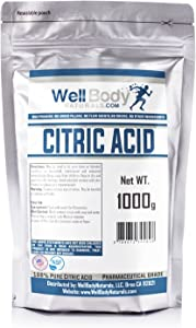 Citric Acid Powder - Fine Granular - 100% Pure Anhydrous - Pharmaceutical Grade Quality 1 Kilograms