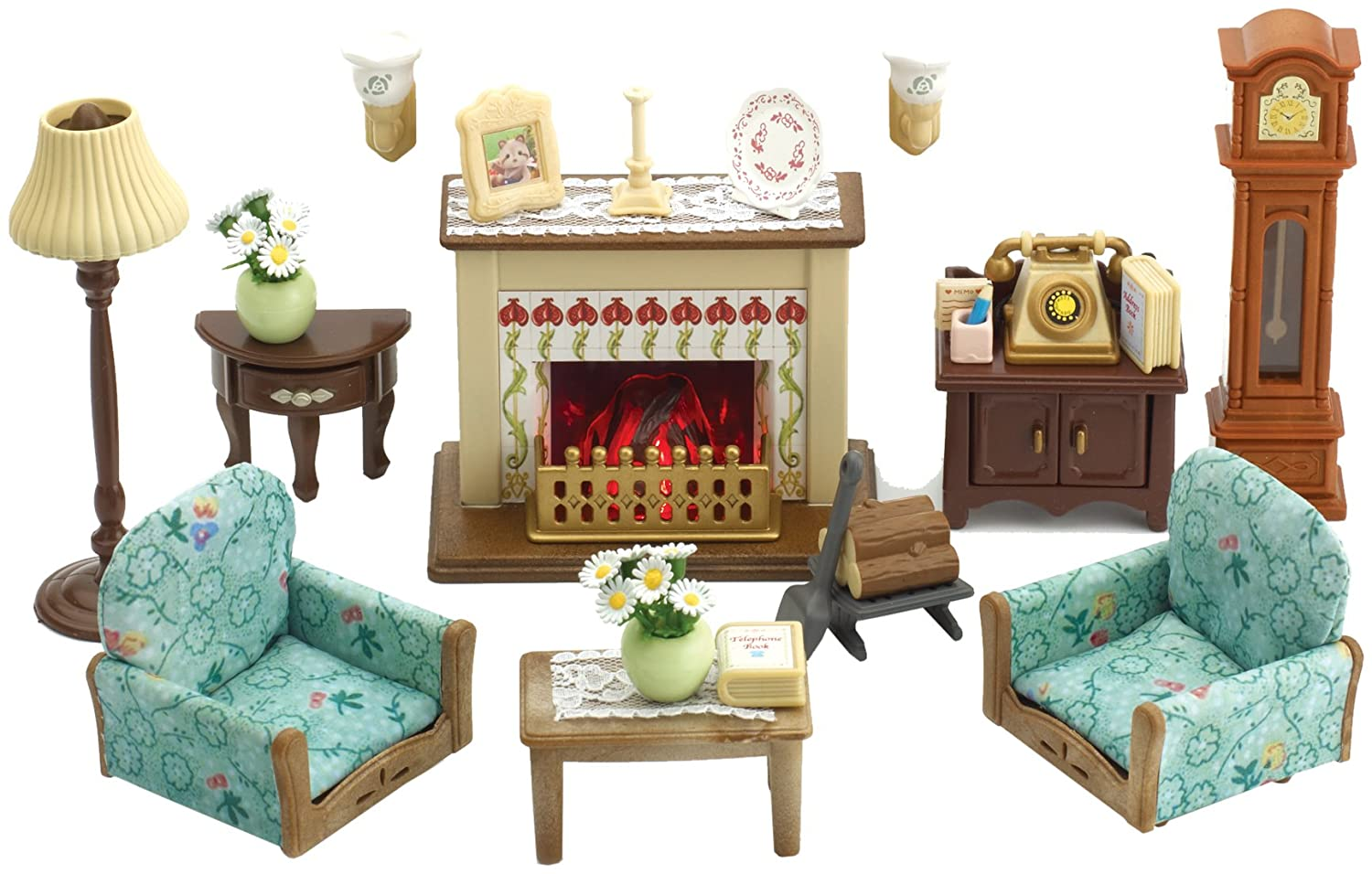 Sylvanian families drawing room set amazon co uk toys games