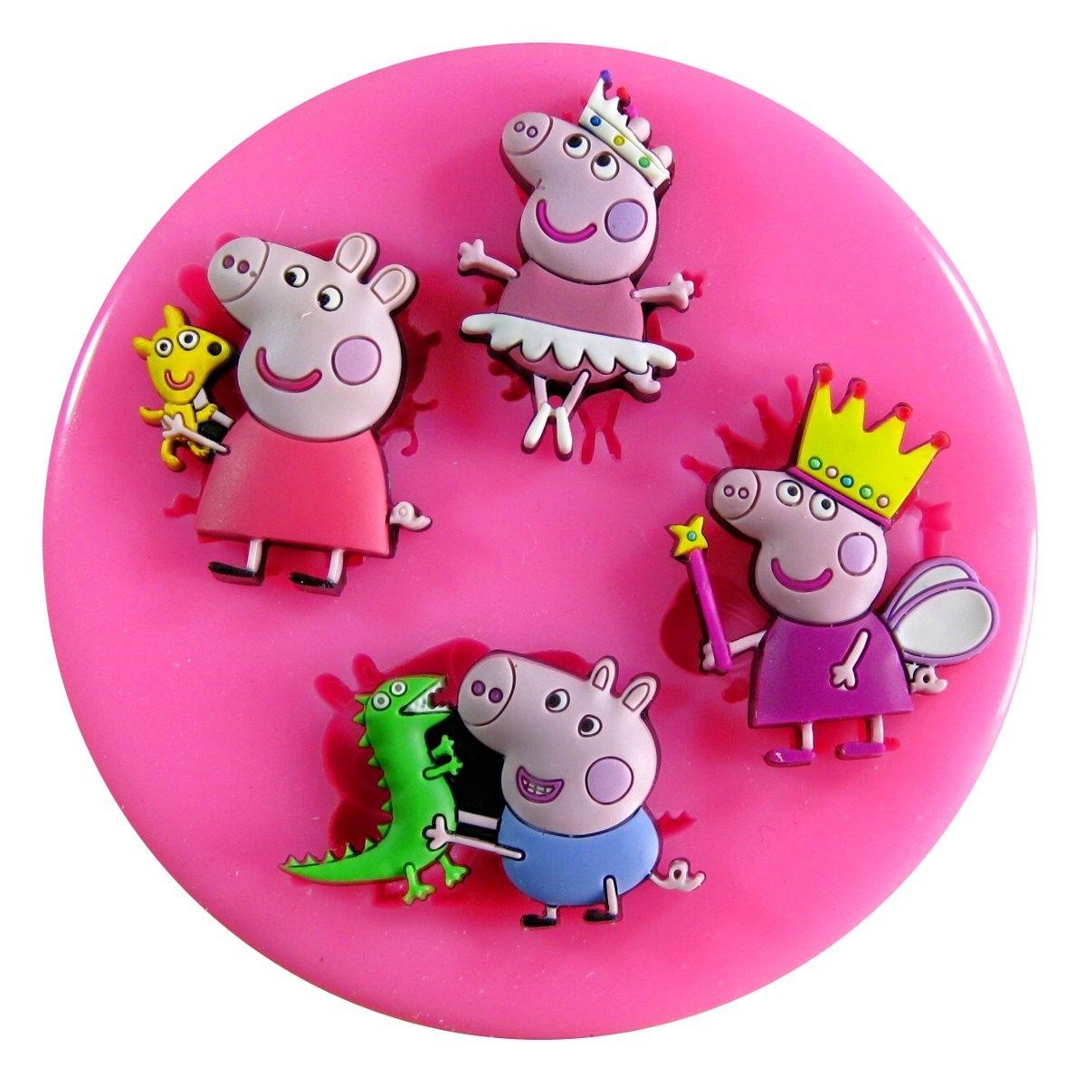 Princesa de hadas del cerdo de Peppa Molde de silicona para la torta de Decoración Pastel de Cupcake Toppers Glaseado Sugarcraft Tool por Fairie Blessings: ...