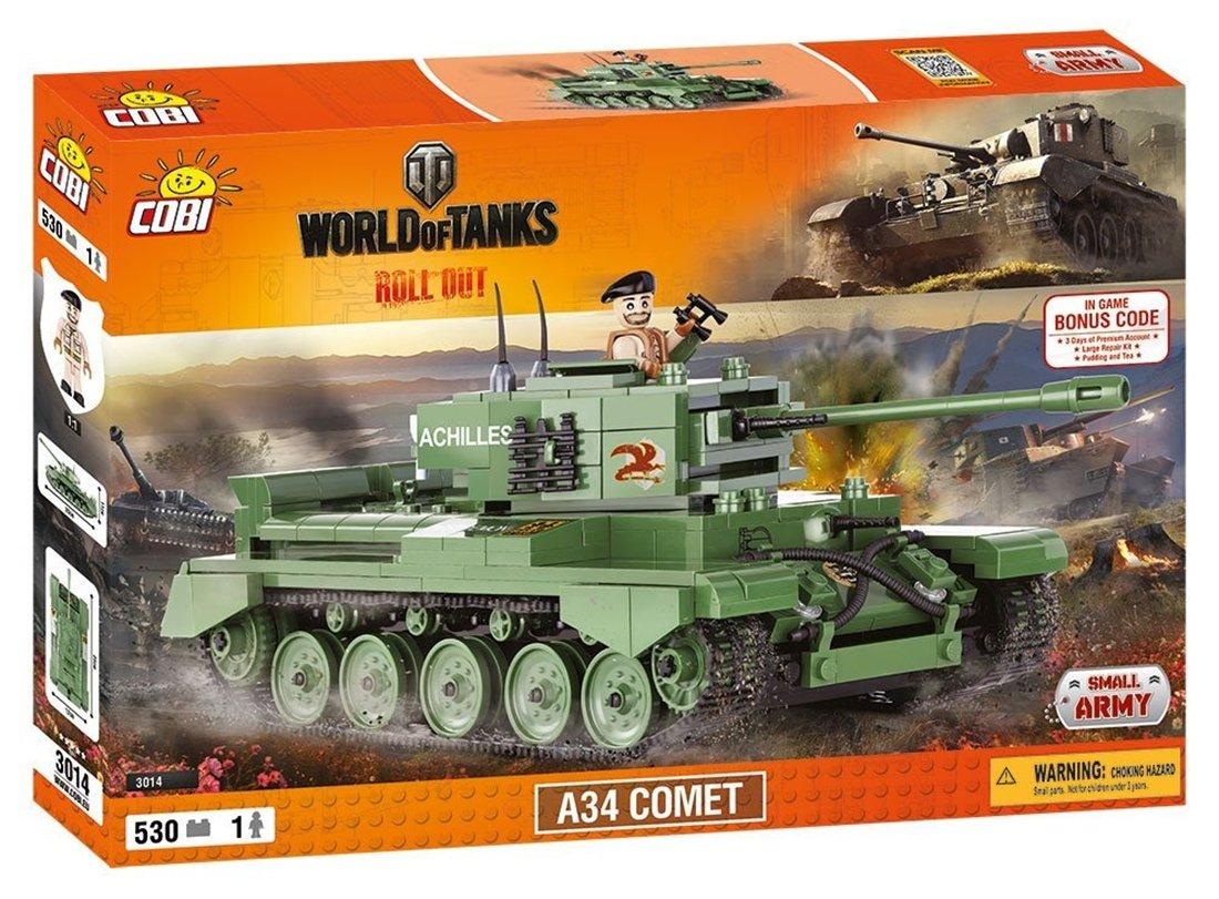 COBI 3014 A34 Comet Tank Model Kit by World of Tanks