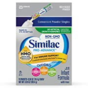 Similac Pro-Advance Non-GMO Infant Formula with Iron, with 2'-FL HMO, for Immune Support, Baby Formula, Powder Stickpacks, 64 Count