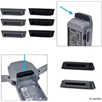 Silicone Battery and Charging Port Protectors for DJI Mavic Pro / Platinum Drone - 6x Battery and 2x Charge Port Cover - Power Connection Safety Caps - Perfect Travel and Storage Solution