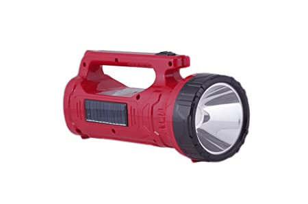 AKARI 3930STU Solar Power LED Torch With Emergency LIGHT, Rechargeable Torch (Color May Vary) at amazon