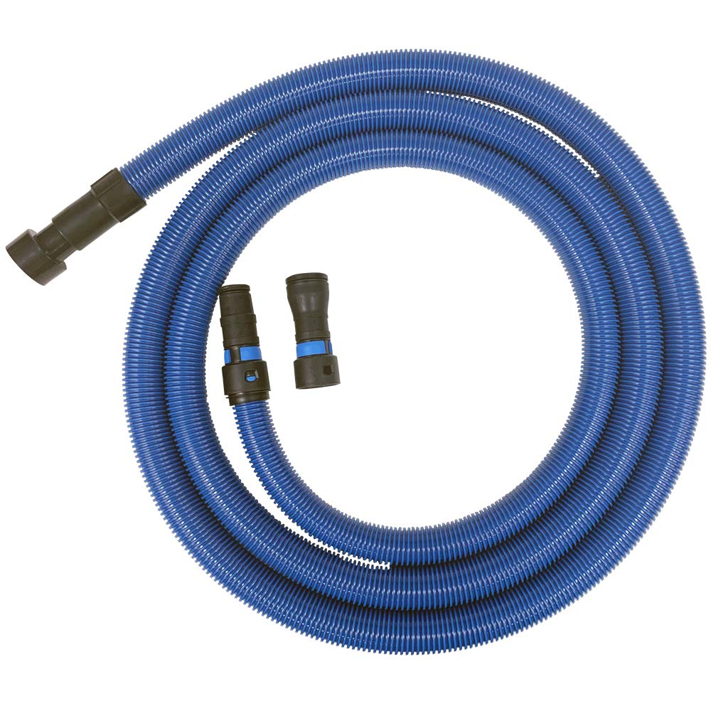 Cen-Tec Systems 94434 16 Ft. Antistatic Wet/Dry Vacuum Hose for Shop Vacs with Universal Power Tool Adapter Set, Blue