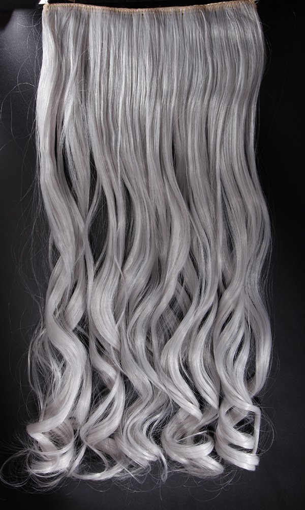 Amazon S Noilite 2460cm Curly Silver Grey 34 Full Head One