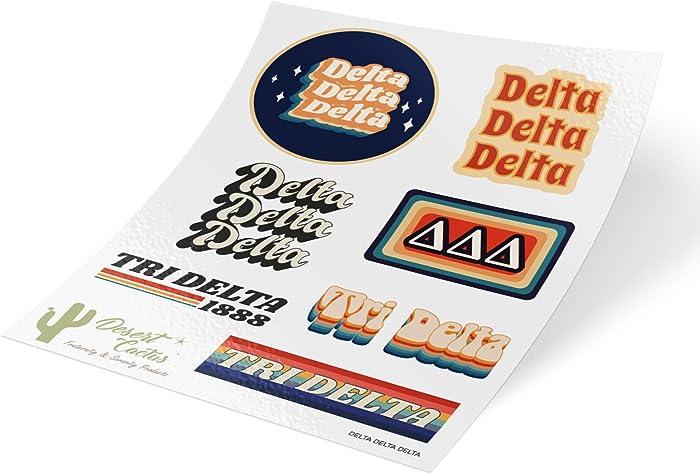 Top 10 Tri Delta Sticker Laptop