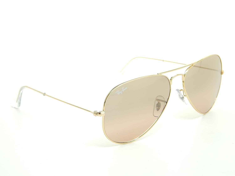 8eaf0e5f272 Amazon.com  New Ray Ban Aviator RB3025 001 3E Arista Brown-Pink Mirror Lens  55mm Sunglasses  Shoes