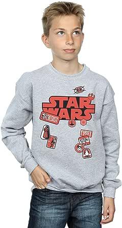 Star Wars niños The Last Jedi Badges Camisa De Entrenamiento