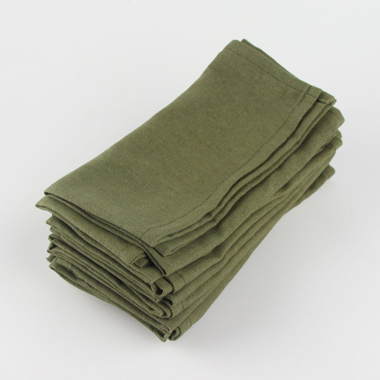 /per Eventi e l Uso Domestico /Set di 12/ 40 x 40 cm INFEI Soft Solid Color Lino Cotone Cena tovaglioli/ 40/x 40/cm / White