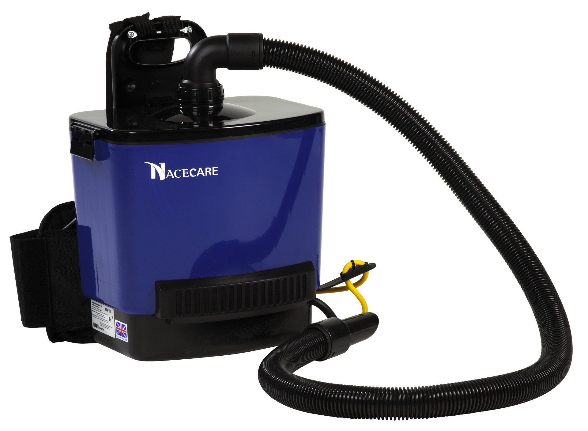 NaceCare RSV130 Back Pack Vacuum, 1.5 Gallon Capacity, 1.6HP, 114 CFM Airflow, 42' Power Cord Length