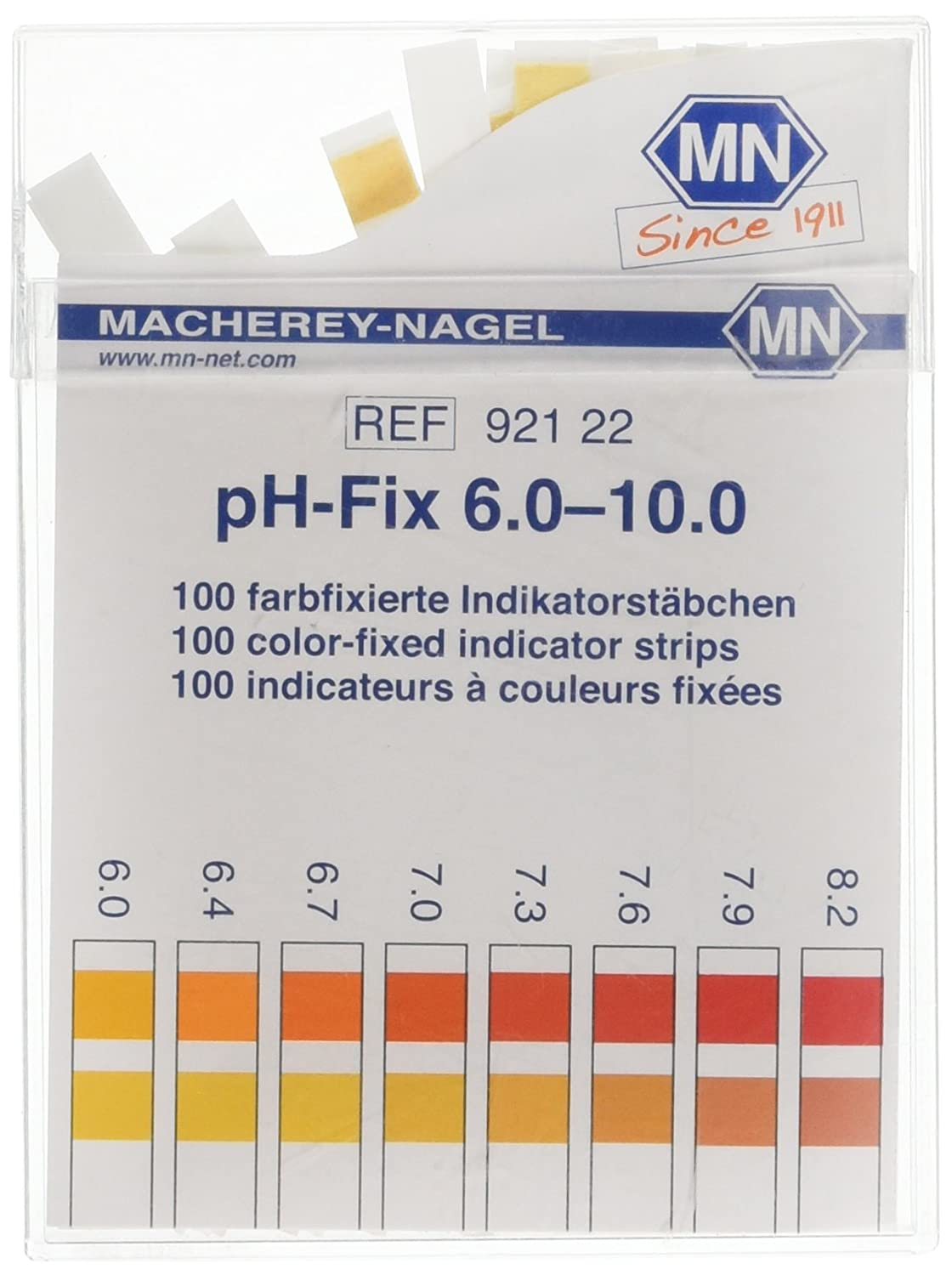 Camlab 1178895  Ph-fix Indicateur bâ ton, PH 6.0– 10.0, 6  mm x 85  mm (lot de 100) PH 6.0-10.0 6 mm x 85 mm (lot de 100)