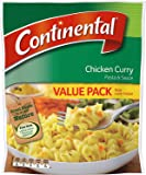 Continental Chicken Curry Pasta & Sauce Value Pack 150g