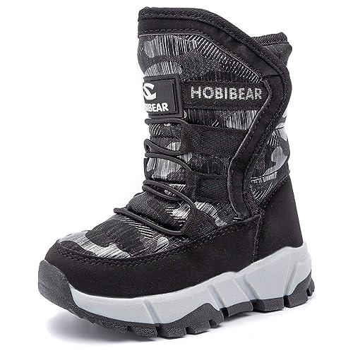 c6f4f9579 UBFEN Kids Snow Boots Boys Girls Womens Winter Warm Waterproof Outdoor Slip  Resistant Cold Weather Shoes (Toddler/Little Kid/Big Kid)