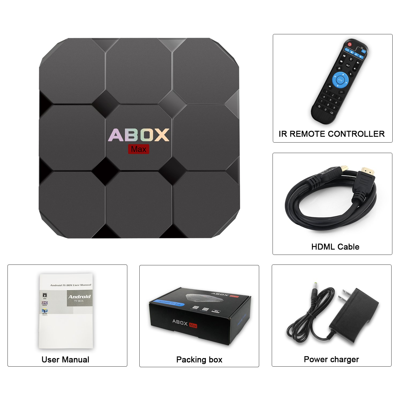 2018 Model GooBang Doo ABOX A1 max Android 7.1 TV Box, 2GB RAM 16GB ROM Bluetooth 4.0 Amlogic S905W Quad Core A53 Processor 64 Bits by GooBang Doo (Image #9)