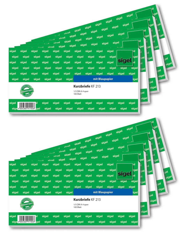 Sigel KF213 Kurzmitteilung 1/3 A4 q, 10 Stück by Sigel
