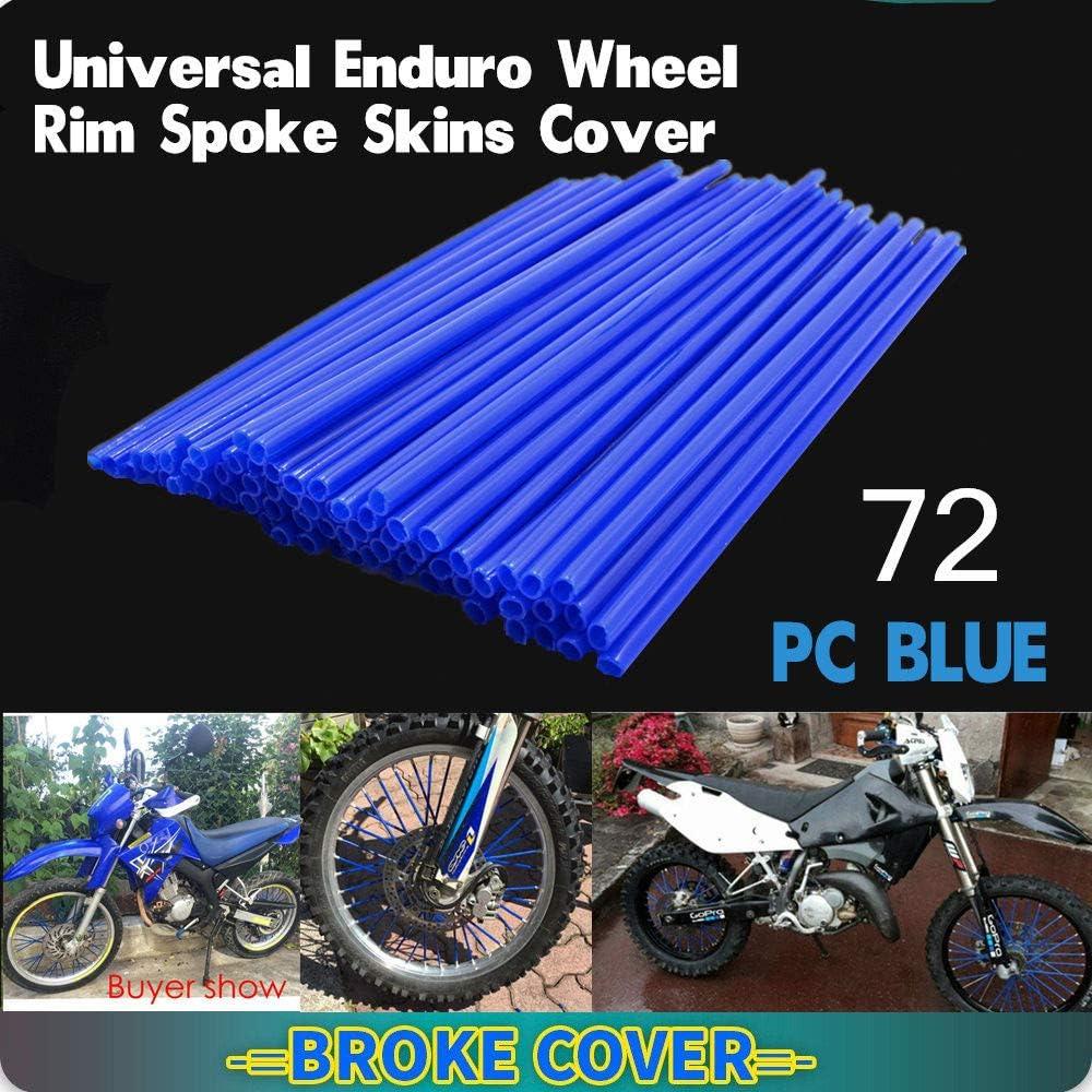 Black 72Pc Motorcycle Universal Wheel Spoke Rims Skins Cover for Harley Davidson