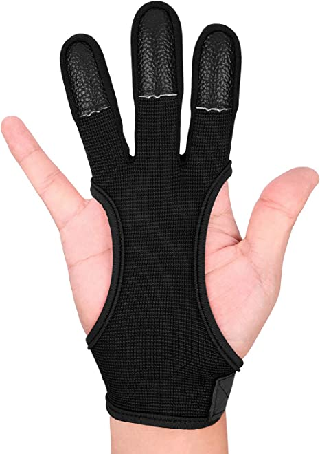 Archery Silicone Finger Guard No Glove Recurve Bow Shooting Hunting Protec  Tu