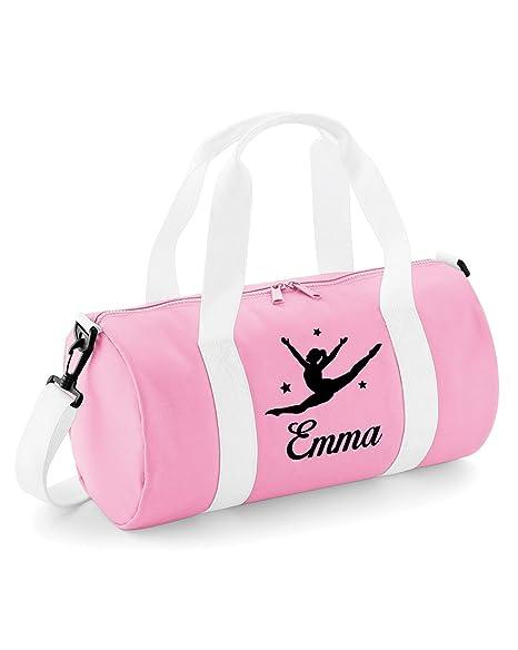 beyondsome Personalised Split Jump Girls Ladies Dance Kit bag (Baby Pink    White Black 57d6a9d56b917